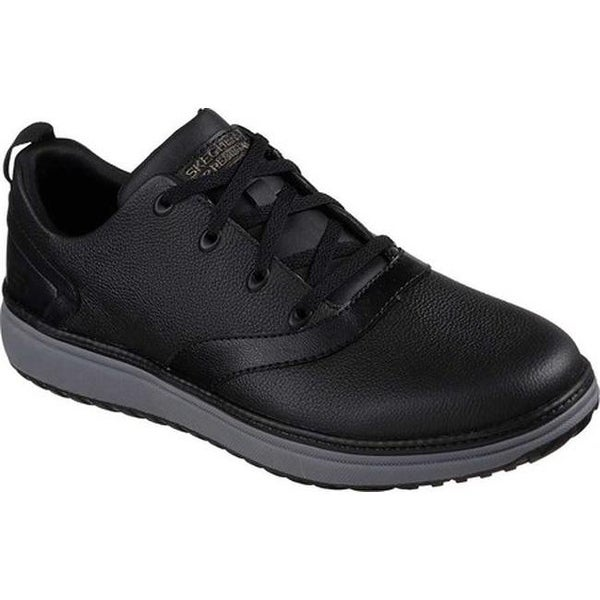 fed438b5147 Shop Skechers Men s Work Relaxed Fit Mohall Slip Resistant Shoe Black - On  Sale - Free Shipping Today - Overstock - 21225273