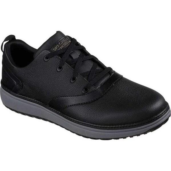 Skechers Men's Work Relaxed Fit Mohall Slip Resistant Shoe Black