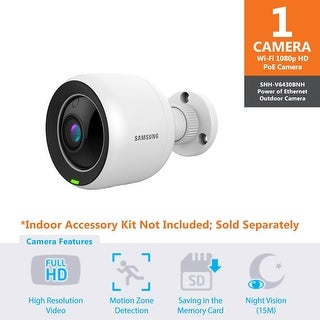 SNH-V6430BN - Samsung Full HD WiFi 1080p PoE Outdoor Home Monitoring Camera