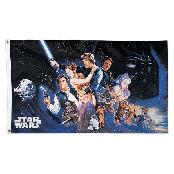 Star Wars Original Trilogy Episode 6 3' x 5' Poster Collage Deluxe Flag