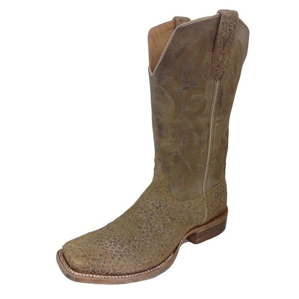Twisted X Western Boots Mens Rancher Carmel Bull Hide