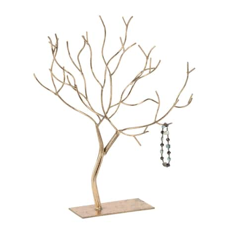 Gold Tree Jewelry Stand