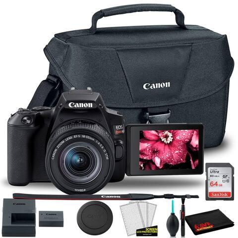 Canon EOS Rebel SL3 DSLR Camera with 18-55mm Len + Canon EOS Bag +