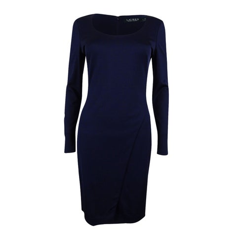 Lauren Ralph Lauren Women's Scoop-Neck Dress - lighthouse navy