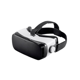 Monoprice MP VR Viewer Mobile 3D HMD with IPD Adjustment - Compatible with phones up to 6 in, White