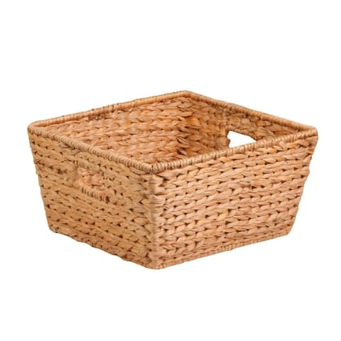 Honey-Can-Do STO-02885 Nesting Water Hyacinth Basket, Natural Brown, Large
