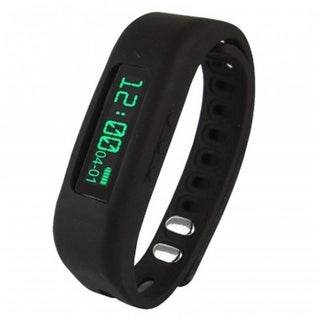 Supersonic 0.91 in. Fitness Wristband with Bluetooth Pedometer,