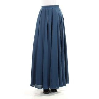 Womens Navy Maxi Paneled Skirt Size 2