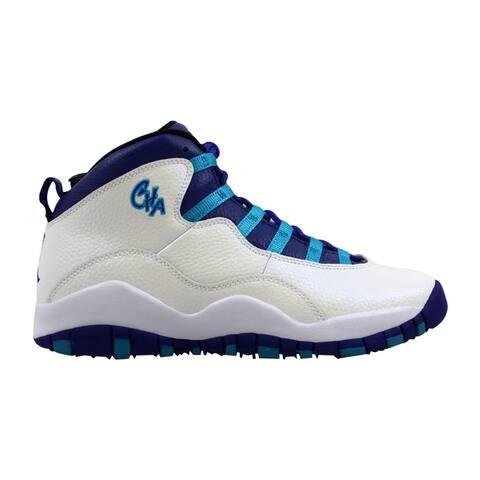 28fecb9825 Nike Air Jordan X 10 Retro White/Concord-Blue Lagoon-Black 310806-