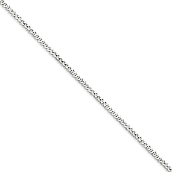 Chisel Stainless Steel 3.0mm 18 Inch Curb Chain (3 mm) - 18 in