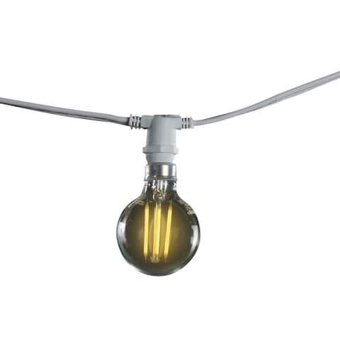 Bulbrite 25 ft, 15-Socket (E12) Decorative String Light Kit, White