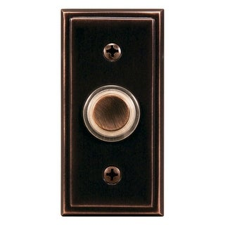 Heath Zenith SL-602-02 Wired Pushbutton Doorbell, Oil Rubbed Bronze