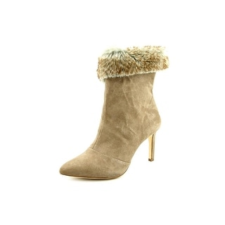 INC International Concepts Leena Women Pointed Toe Suede Nude Bootie
