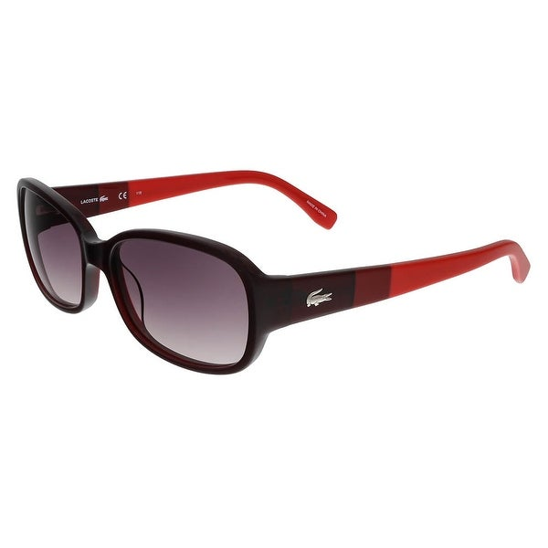 ea32038eb9ff Shop Lacoste L784 S 615 Red Rectangle sunglasses Sunglasses - 56-16 ...