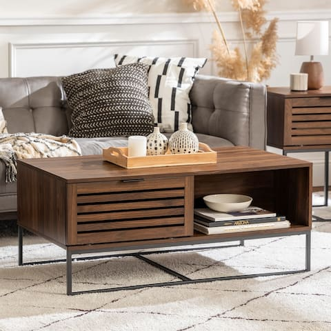 Strick & Bolton Hilla 42-inch Slat Door Coffee Table