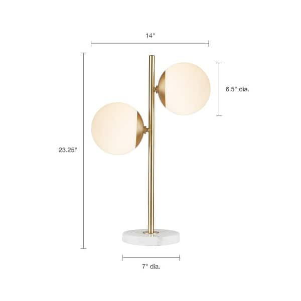 Holloway Table Lamp With White Round Shade By Ink Ivy Overstock 19429587 Gold
