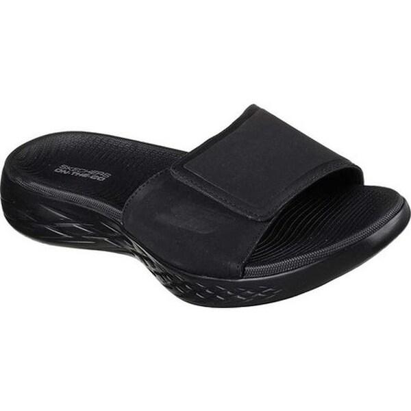 7bc315d329a8 Shop Skechers Men s On the GO 600 Regal Slide Sandal Black Black ...