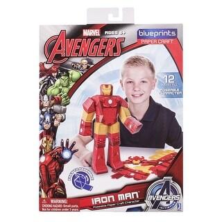 "Marvel Blueprint Paper Craft 12"" Figure: Iron Man - multi"