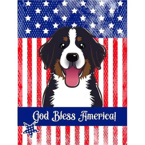 Shop God Bless American Flag With Bernese Mountain Dog Canvas House
