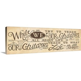 """""""What Life is About"""" Canvas Wall Art"""