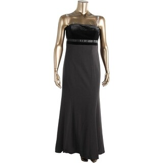 Aidan Mattox Womens Crepe Prom Evening Dress