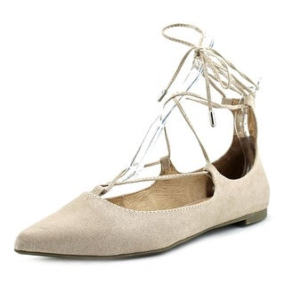 Steve Madden lecrew Women  Pointed Toe Canvas Tan Flats