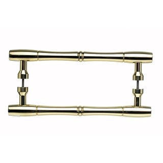 Top Knobs M722-8pair Nouveau Collection 8 Inch Center to Center Polished Brass Bamboo Back to Back D