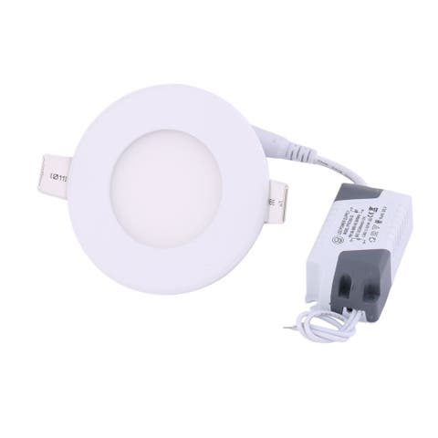Warm White 3W Round Household LED Recessed Ceiling Panel Light Bulb AC85-265V