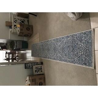 Safavieh Brentwood Traditional Oriental Navy/Light Grey Rug
