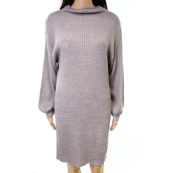 54614b345c6 Shop RDI NEW Gray Women s Size Small S Ribbed Cowl Neck Sweater Dress -  Free Shipping Today - Overstock - 20982125
