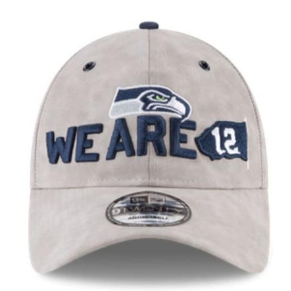 676bc094b79f1 New Era NFL Seattle SeaHawks Baseball Hat Cap Spotlight 920 9Twenty Faux  Suede
