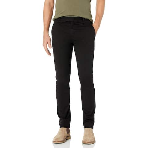 J Brand Mens Pants Black Size 31x36 Straight Leg Clasp Front Stretch