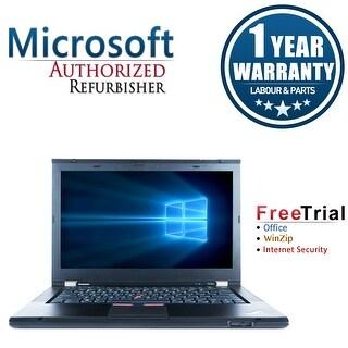 "Refurbished Lenovo ThinkPad T430S 14.0"" Intel Core i5-3320M 2.6GHz 4GB DDR3 320GB DVD Win 10 Pro 64 (1 Year Warranty) - Black"