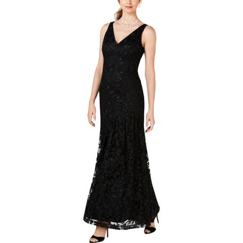 Vince Camuto Womens Evening Dress Mesh Embroidered