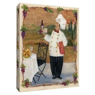 """PTM Images 9-148682  PTM Canvas Collection 10"""" x 8"""" - """"Service with a Smile II"""" Giclee Chefs Art Print on Canvas"""
