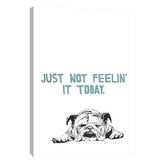 """PTM Images 9-108798  PTM Canvas Collection 10"""" x 8"""" - """"Bulldog"""" Giclee Dogs Art Print on Canvas"""