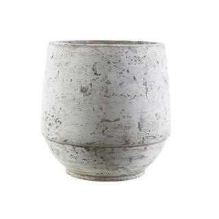 "Roman Style Dolphin and Light Gray Decorative Cement Garden Patio Pot Planter 12.5"" - N/A"