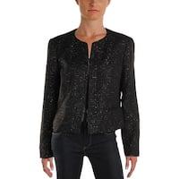 Nine West Womens La Vie En Rose Tweed Jacket Sequined Work Wear