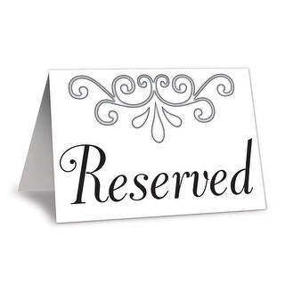 "Club Pack of 48 Front and Back Wedding Celebration Reserved Table Cards 4.25"" - White"