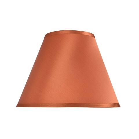 "Aspen Creative Hardback Empire Shape Spider Construction Lamp Shade in Burnt Orange (6"" x 12"" x 9"")"