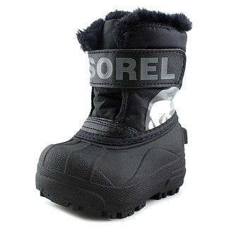 Sorel Snow Commander Youth Round Toe Synthetic Black Snow Boot