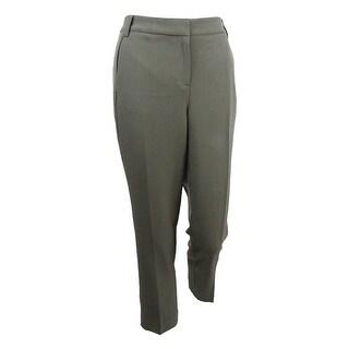 Kasper Women's Petite Straight-Leg Pants (16P, Loden) - Loden - 16p