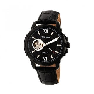 Heritor Bonavento Men's Automatic Watch, Genuine Leather Band, Sapphire-Coated Crystal, Luminous Hands