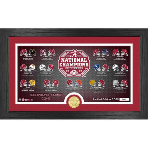 Alabama Crimson Tide 2020/21 College Football National Champions Panoramic Photo Mint - 12x20