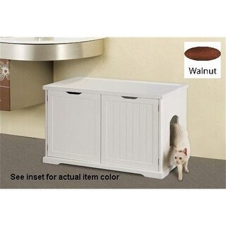 Merry Products MPS012 Cat Washroom Bench - Walnut