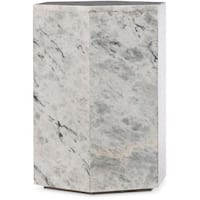 Hooker Furniture 638-50382-GRY 20 Inch Wide Marble and Fiberglass Accent Table f - marbled gray