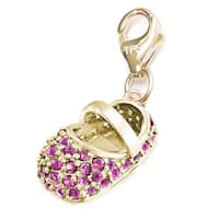 Julieta Jewelry Baby Shoe In Pink Clip-On Charm