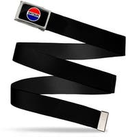 Classic Round Datsun Logo Fcg Black Red White Blue  Chrome Black Web Belt
