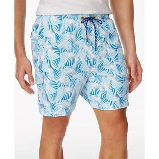 Tommy Bahama NEW Blue Mens Size 2XL Drawstring Shell Printed Trunks