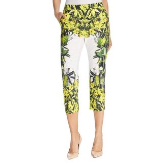 Finity Womens Ankle Pants Floral Print Stretch